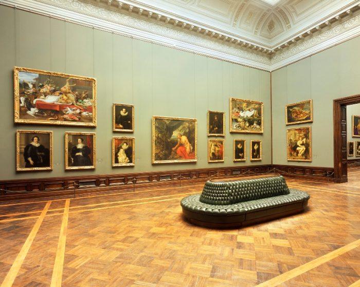 Interior of the Gemäldegalerie Alte Meister, Staatliche Kunstsammlungen Dresden