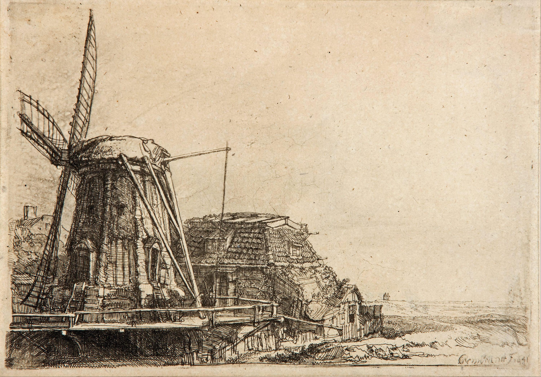 Rijksmuseum Famous Paintings Windmill
