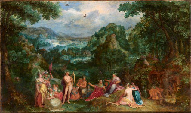 Gillis van Coninxloo (1544-1607) and Karel van Mander (1548-1606), Landscape with the Judgment of Midas, 1588 Gemäldegalerie Alte Meister, Staatliche Kunstsammlungen Dresden