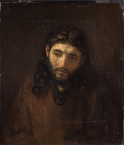 Rembrandt and studio, Head of Christ, ca. 1648-56, Philadelphia Museum of Art, John G. Johnson Collection