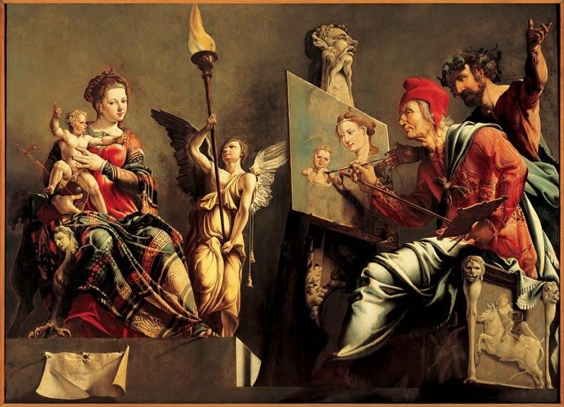 Maerten van Heemskerck (1498-1547), Saint Luke painting the virgin, 1532, Haarlem, Frans Hals Museum.