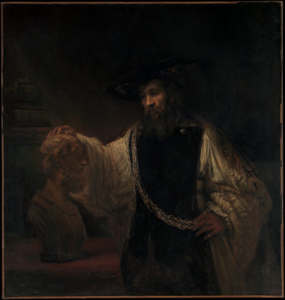 Rembrandt (Rembrandt van Rijn) (Dutch, Leiden 1606–1669 Amsterdam) Aristotle with a Bust of Homer, 1653. The Metropolitan Museum of Art, New York, Purchase, special contributions and funds given or bequeathed by friends of the Museum, 1961 (61.198)