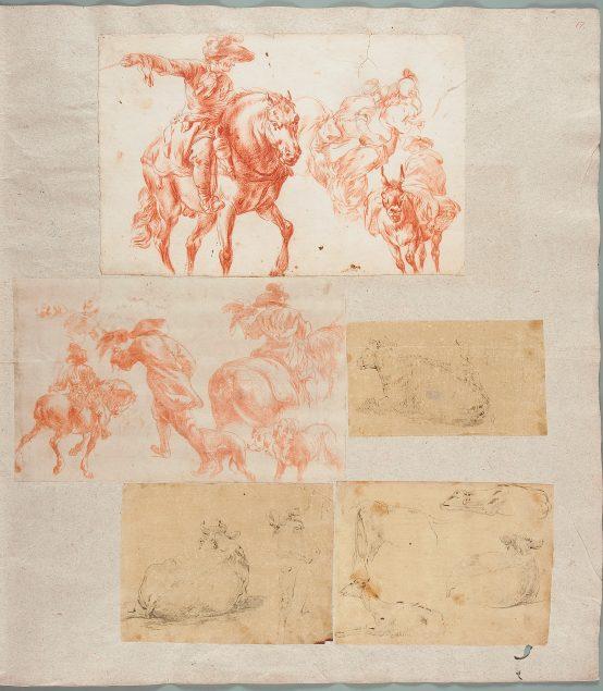 Dessins Originaux Pars II, fol. 17r, National Museum in Warsaw