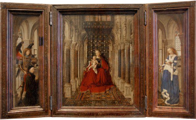 Jan van Eyck (ca. 1390-1441), Dresden Triptych, 1437, Gemäldegalerie Alte Meister, Staatliche Kunstsammlungen Dresden