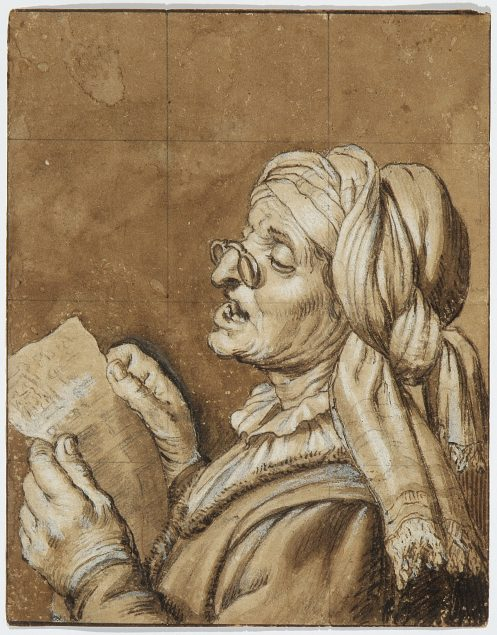 Gerrit van Honthorst (1592-1656), Old woman singing. National Museum in Warsaw