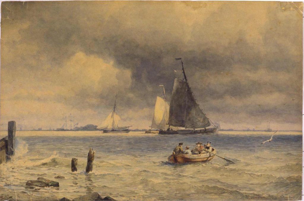 Willem Antonie van Deventer (1824-93), Seascape, 1851. Tokyo University of the Arts