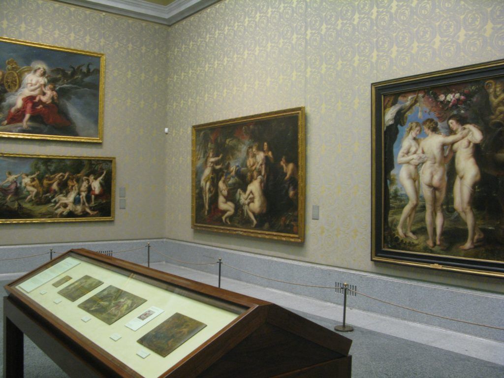 View of the interior of the Prado. One of the rooms devoted to Rubens.