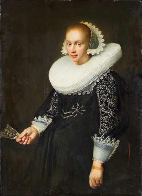 Jan Daemen Cool (1589-1660), Portrait of a young woman with a fan, 1636 National Gallery in Prague