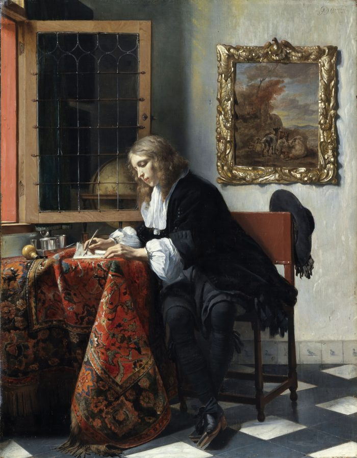 Gabriel Metsu, A man writing a letter, ca. 1663 National Gallery of Ireland, Dublin