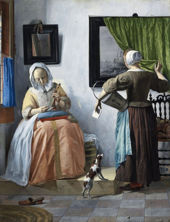 Gabriel Metsu, A woman reading a letter, ca. 1663 National Gallery of Ireland, Dublin