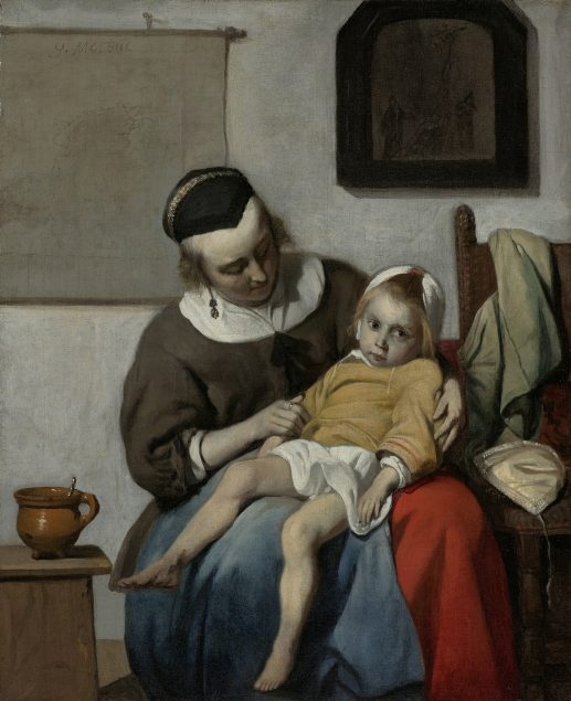 Gabriel Metsu, The sick child, ca. 1663-64. Rijksmuseum, Amsterdam