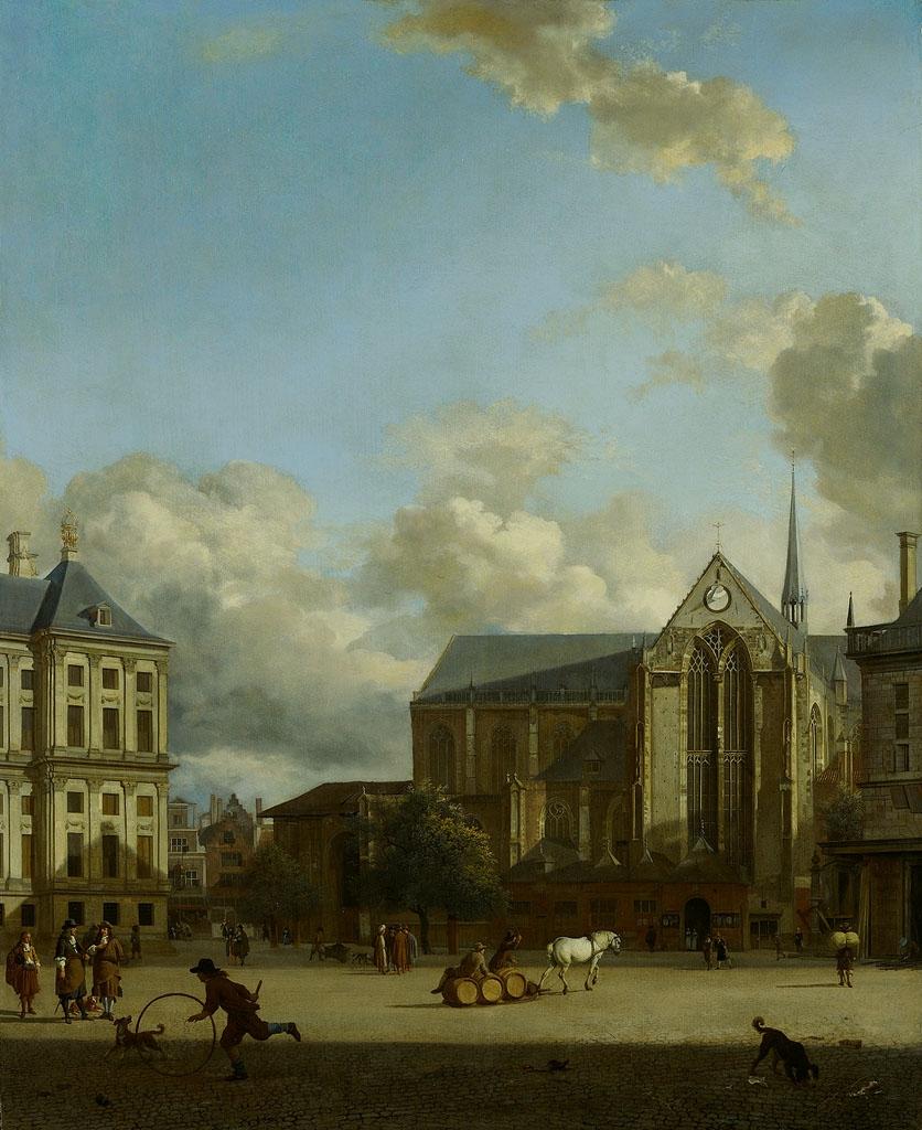 Jan van der Heyden (1637-1712), Dam Square, ca. 1668, Amsterdam, Amsterdam Museum