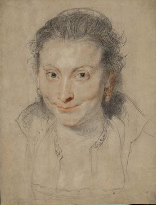 Peter Paul Rubens (1577-1640), Portrait of Isabella Brant, ca. 1621-22. © The Trustees of the British Museum