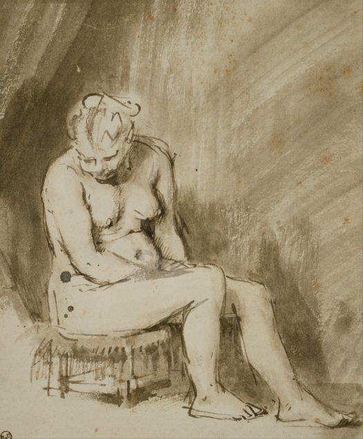 Rembrandt van Rijn (1606-1669), Seated Female Nude, ca. 1660-62, The Art Institute of Chicago, Chicago