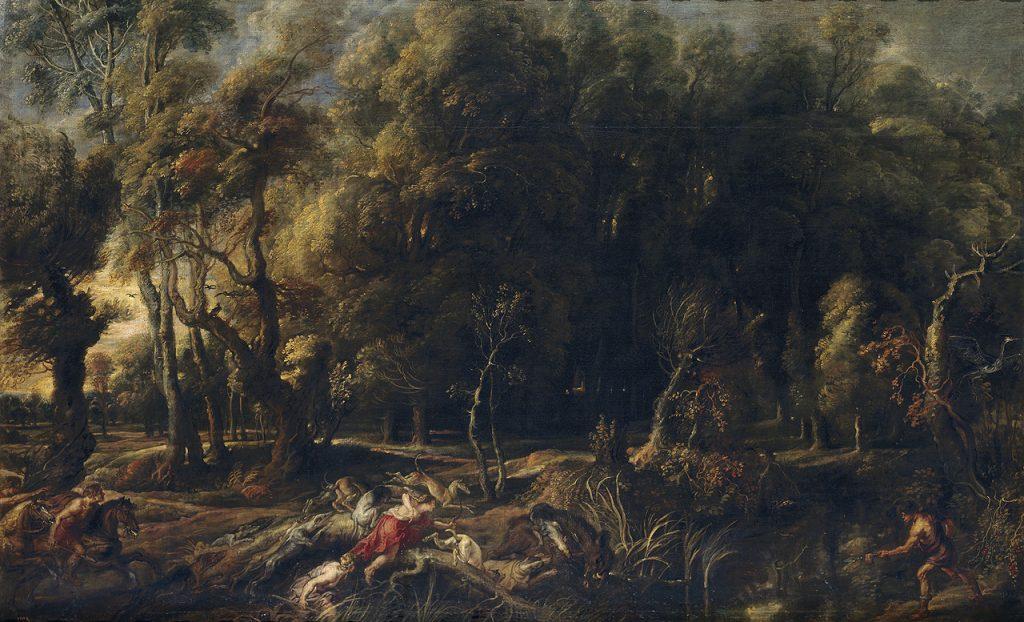 Peter Paul Rubens (1577-1640), The Calydonian boar hunt, ca. 1636. Museo del Prado Madrid
