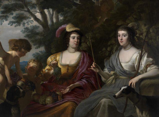 Gerard van Honthorst (1592-1656), Double Portrait of Amalia van Solms and Charlotte de La Trémoïlle, 1633 Het Loo Palace, Apeldoorn