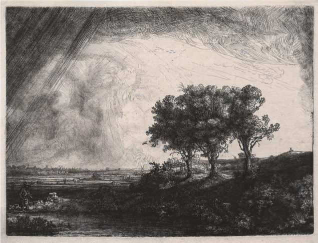 Rembrandt, The three trees, 1643, Moscow, Pushkin State Museum of Fine Arts