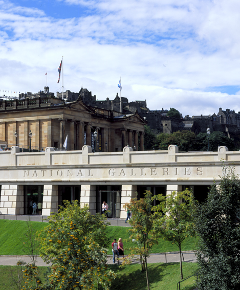 The National Gallery of Scotland in Edinburgh