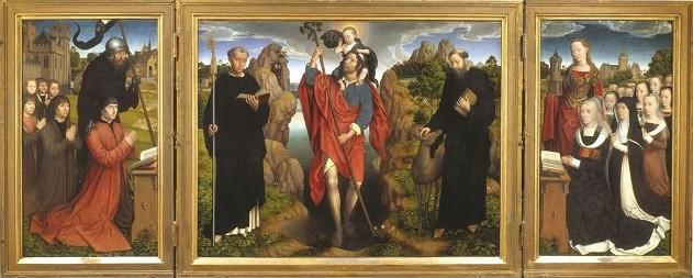 Hans Memling (1433-1494), Moreel Triptych, 1484 Groeningemuseum, Brugge