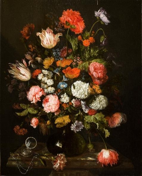 Abraham van Beyeren (ca. 1620/21-1690), Flower Still Life with a Watch Rijksmuseum Twenthe Enschede