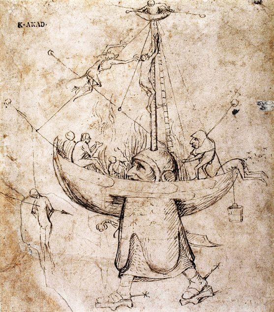 Workshop of Jheronimus Bosch (ca. 1450-1516), The Ship of Fools in Flames Academy of Fine Arts, Vienna