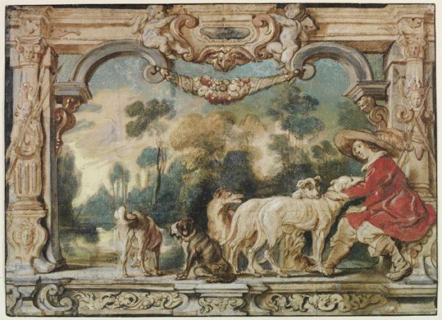 Jacob Jordaens (1593-1678), A Huntsman with Dogs, seventeenth century © Victoria & Albert Museum London