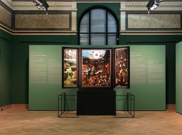 View of the gallery with Hieronymus Bosch's triptych of The Last Judgement in the Paintings Gallery of the Academy of Fine Arts, Vienna Photo: Gisela Erlacher
