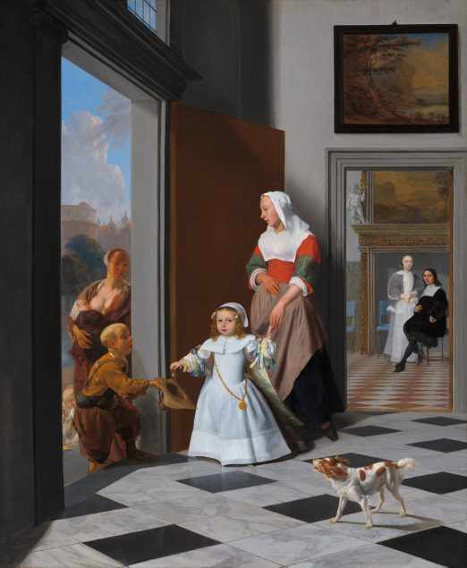 Jacob Ochtervelt, A Nurse and a Child in an Elegant Foyer, 1663, The Lee and Juliet Folger Fund