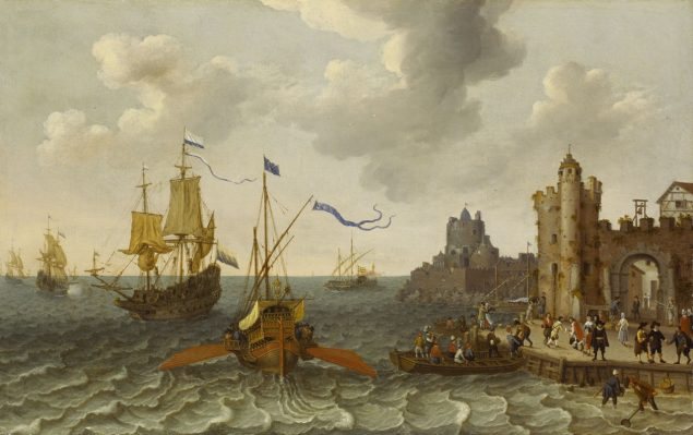 Abraham Willaerts (1603-1669), A French Galley and Dutch Men-of-War off a Port © National Maritime Museum Greenwich
