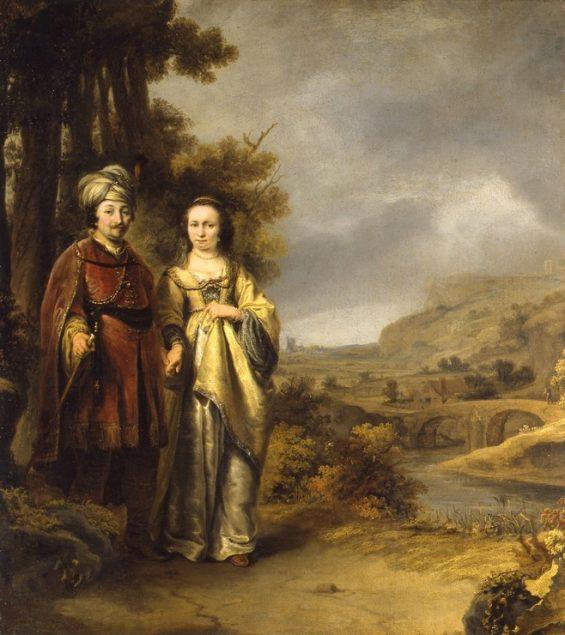Ferdinand Bol (1616-1680), Portrait of a Couple in a Landscape Dordrechts Museum, Dordrecht