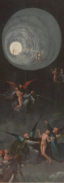 Jheronimus Bosch (ca. 1450 - 1516), Detail of the Ascent into Heaven from the series Visions of the Hereafter, ca. 1505-15 Museo di Palazzo Grimani, Venice (photo from before restoration)