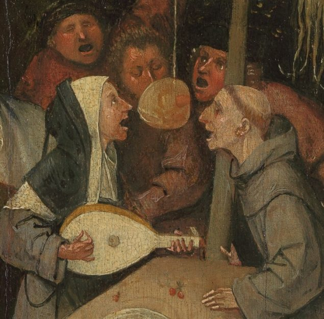 Jheronimus Bosch (ca. 1450-1516), The Ship of Fools (detail), ca. 1500-10 Musée du Louvre, Paris