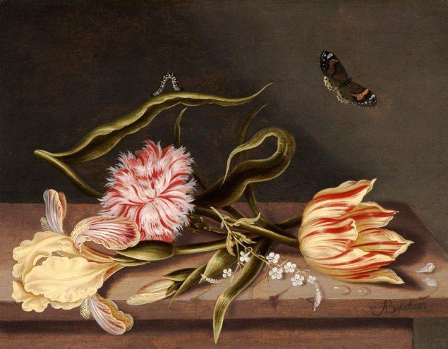 Abraham Bosschaert (1612 – 1643), A Still Life Flowers laid on a Table © Johnny Van Haeften Ltd