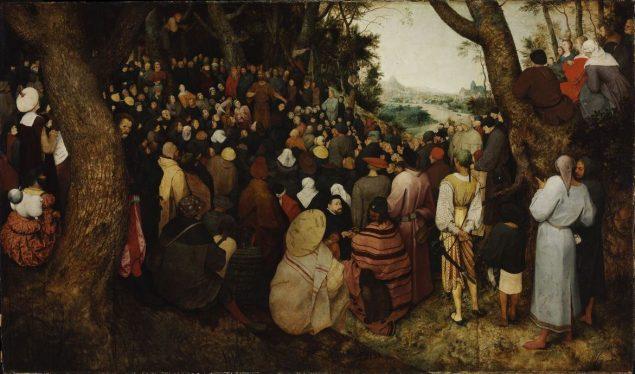 Pieter Bruegel I (ca. 1526/1530-1569), The Sermon of Saint John the Baptist, 1566, Szépművészeti Múzeum, Budapest