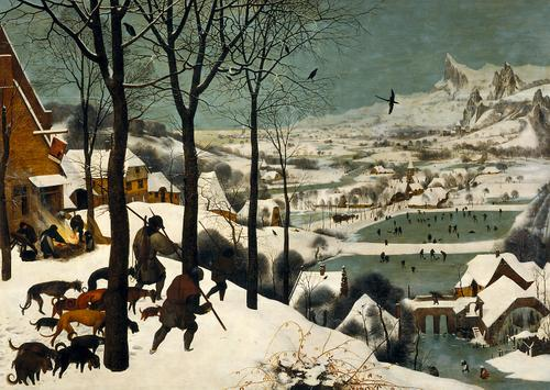 Pieter Bruegel the Elder (ca. 1525-1569), Hunters in the Snow, 1565 Kunsthistorisches Museum, Vienna