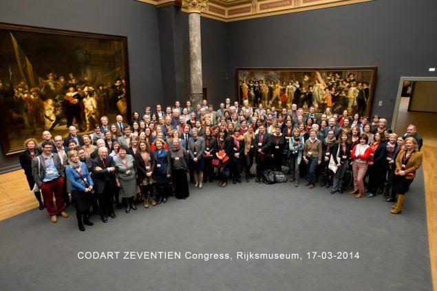Participants CODART ZEVENTIEN in the Nightwatch room (Photo: Paul Ridderhof)