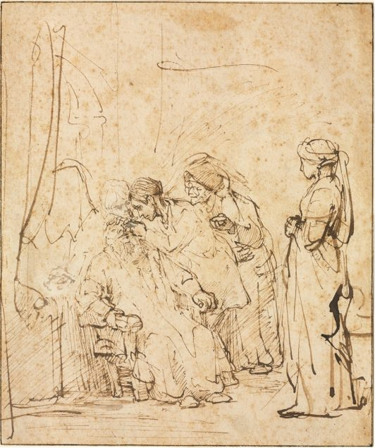 Rembrandt van Rijn (Dutch 1606 – 1669), Tobias Healing His Father's Blindness, c. 1640-45 The Cleveland Museum of Art, Cleveland, Ohio. Purchase from the J. H. Wade Fund