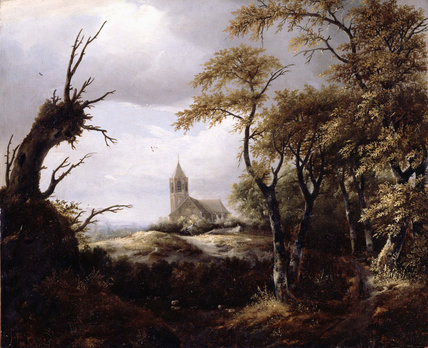 Follower of Jacob van Ruisdael, Landscape with a Church, 1640s Dulwich Picture Gallery, London