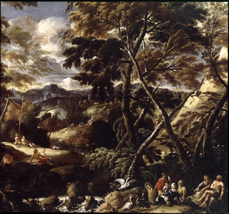 Philips Augustijn Immenraet (1627-1679), Woodland Landscape, ca. 1670 Dulwich Picture Gallery, London