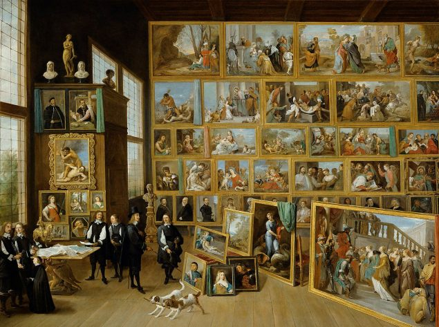 David Teniers the Younger (1610-1690), The Archduke Leopold Wilhelm in His Gallery at Brussels, c. 1651 Kunsthistorisches Museum Vienna