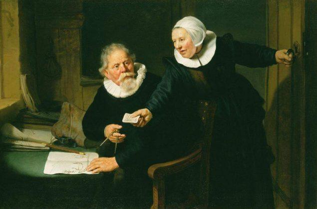 """Rembrandt van Rijn (1606-1669), """"The Shipbuilder and His Wife"""": Jan Rijcksen (1560/2-1637) and His Wife, Griet Jans, 1633 © Her Majesty Queen Elizabeth II, 2014"""