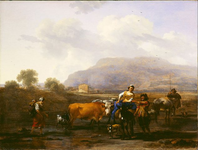 Nicolaes Berchem (1620-1683), Travelling Peasants (Le Soir), 1655-59 © Dulwich Picture Gallery London