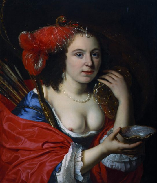 Bartholomeus van der Helst (1613-1670), Portrait of Anna du Pire as Granida, 1660 National Gallery in Prague