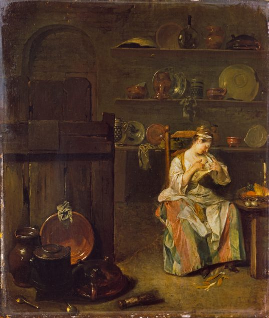 Anonymous, A Young Woman in a Kitchen, after c. 1680 © The Wallace Collection London