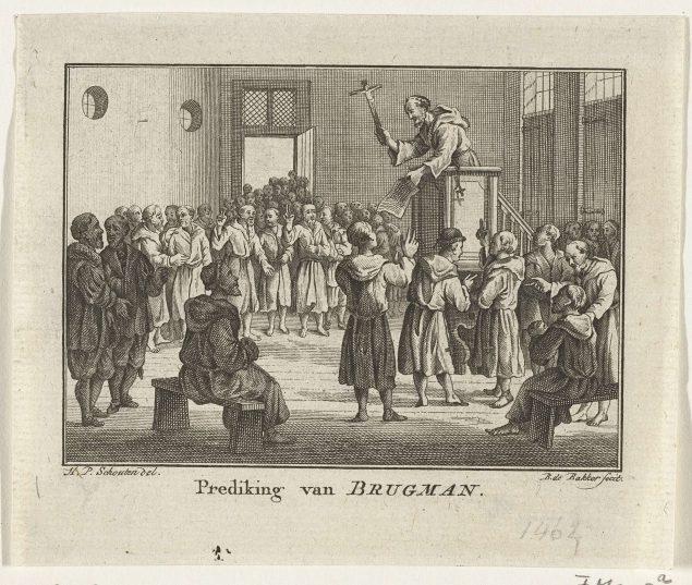 Barent de Bakker (active 1762-1805), Brugman Preaching (1463),  1780-1782 Rijksmuseum, Amsterdam