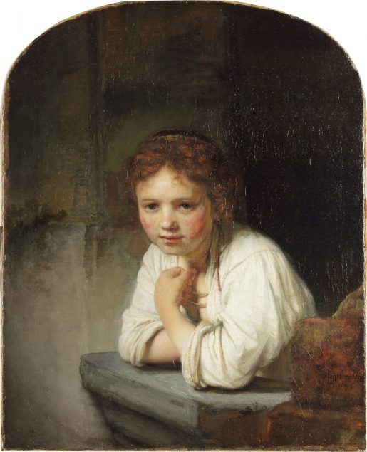 Rembrandt van Rijn (1606-1669), Girl at a Window, 1645 Dulwich Picture Gallery, London