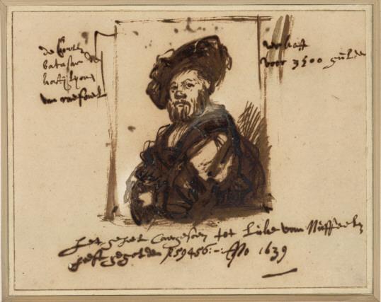 Rembrandt van Rijn (1606-1669), Portrait of Baldassare Castiglione after Raphael, 1639 Albertina, Vienna
