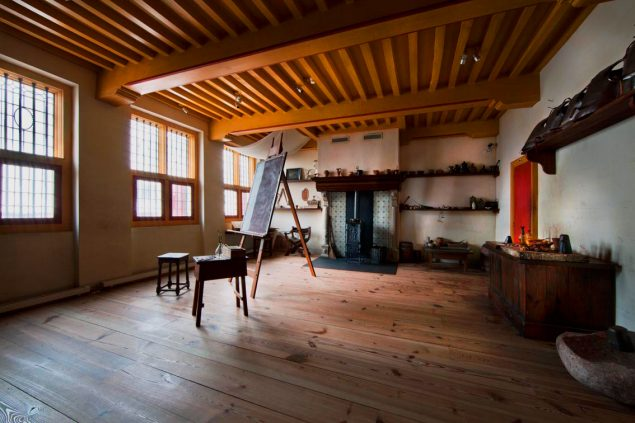 Interior of the Rembrandt House Museum