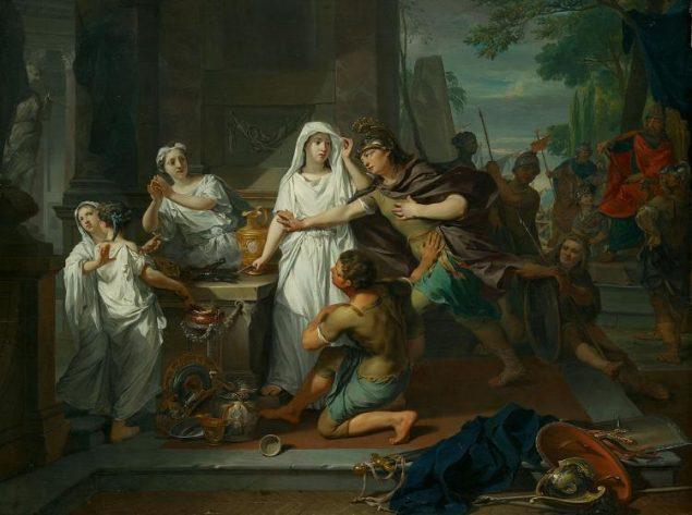 Nicolaas Verkolje (1673-1746), Orestes and Pylade in Tauris, 1732 Amsterdams Historisch Museum