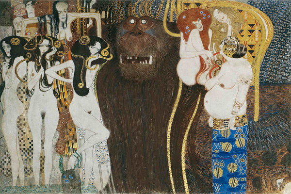 Gustav Klimt (1862-1918), The Hostile Forces, 1902 Secession Building, Vienna